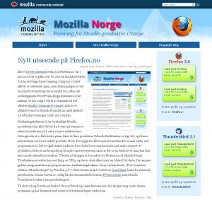Mozilla Norge - nytt design