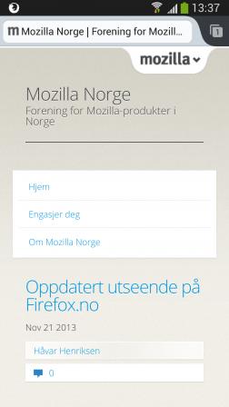 Firefox.no skjermbilde